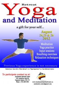 Poster Yoga and Meditation