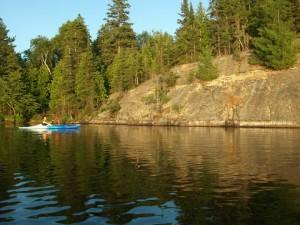 Kayaking at Anderson Lake, Espanola, Ontario