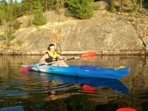 Kayaking at Anderson Lake, Espanola, Ontario