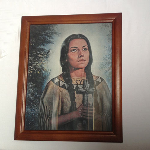 Kateri frame and print (brown,black and red frame)