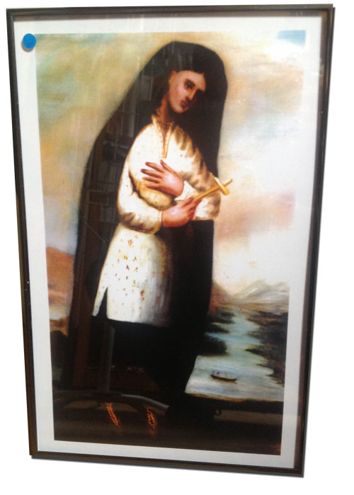 Official kateri image in custom made frame